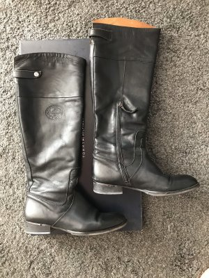 Tommy Hilfiger Riding Boots black leather