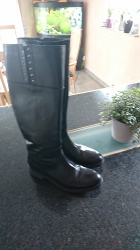 Geox Wide Calf Boots black leather