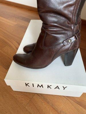 Kim Kay London Stivale militare marrone scuro