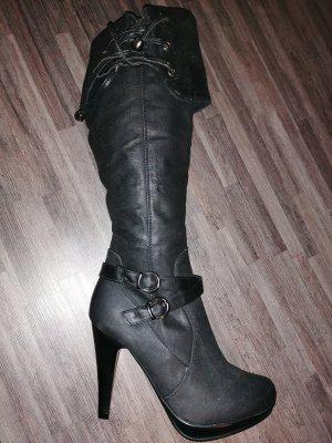 no name Wysokie buty na obcasie czarny