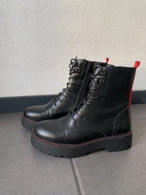 Hailys Plateauzool Laarzen zwart-rood