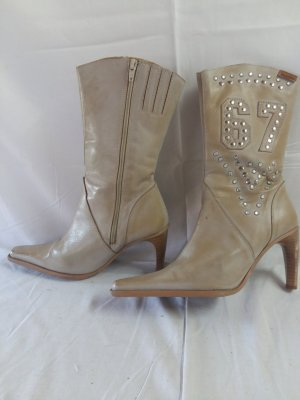 Mustang Western Boots oatmeal leather