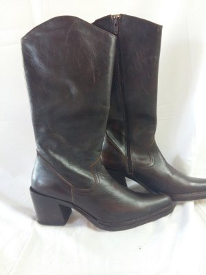 Lumberjack Western Boots dark brown leather