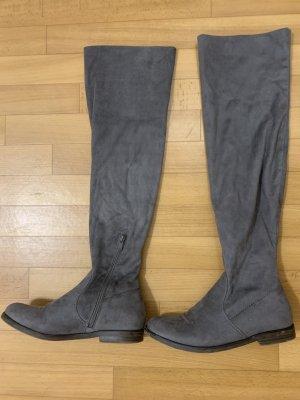 Deichmann Platform Boots grey