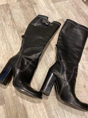 19V69 ITALIA Wysokie buty na obcasie czarny