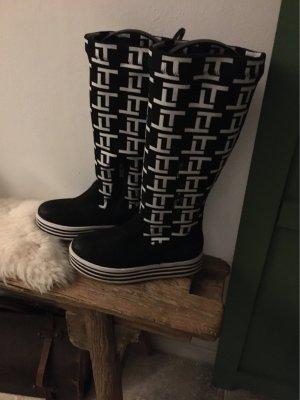 Tizian Botas elásticas negro-blanco