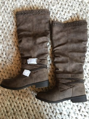 JustFab Wide Calf Boots brown