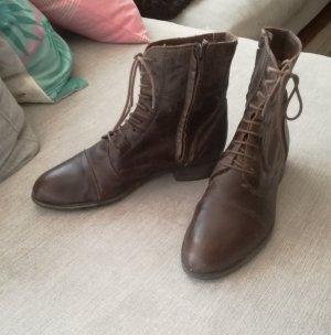 Roberto Santi Botas con cordones marrón-marrón oscuro