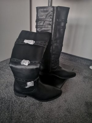 JustFab Riding Boots black