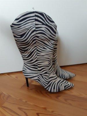 HM Laarzen met hoge hakken wit-zwart