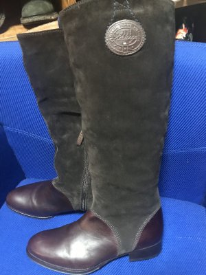 Tommy Hilfiger Botas estilo militar marrón-marrón oscuro