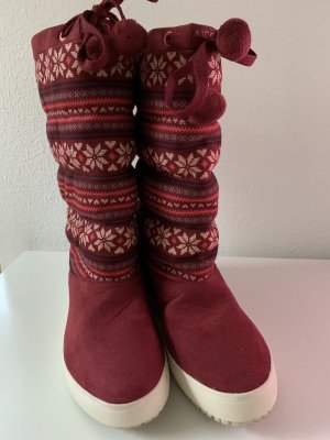 Adidas Buty zimowe głęboka czerwień