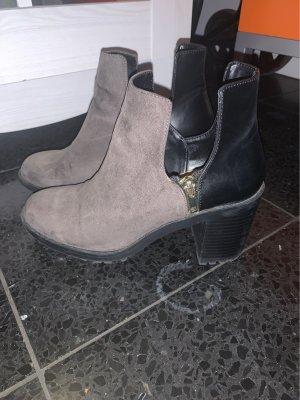 Zara Botte courte gris anthracite-taupe