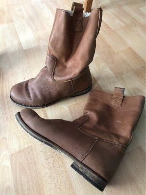 Apple of eden Wide Calf Boots cognac-coloured