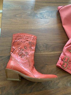 Peterflower Boots western saumon cuir