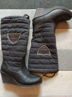 Tamaris Bottes d'hiver noir-rouge framboise