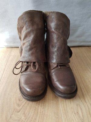 AS98 Stivale a gamba corta marrone scuro