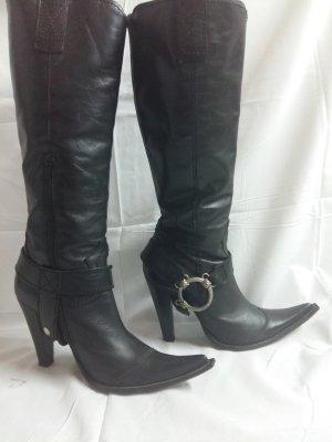 Western Laarzen zwart Leer