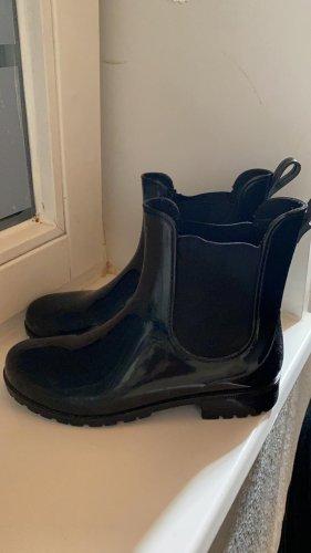 Botas de agua negro tejido mezclado