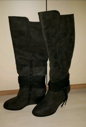 About You Wedge Booties black-anthracite