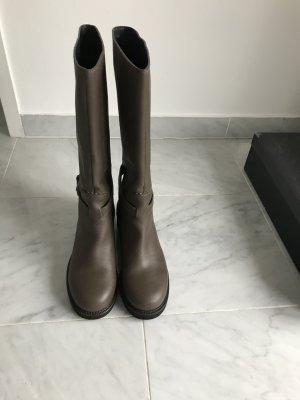 Jil Sander Stivaletto buskin marrone-grigio Pelle