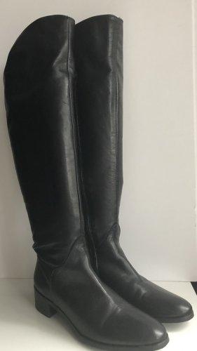 Stiefel aus Leder in Schwarz Gr. 38