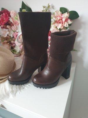 keine Marke Heel Boots brown-dark brown