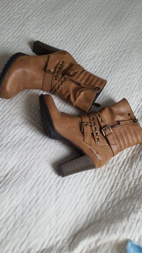 Tom Tailor Heel Boots light brown