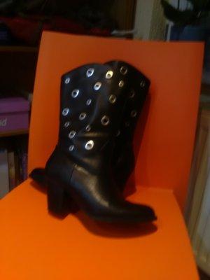 aus Italien Heel Boots black