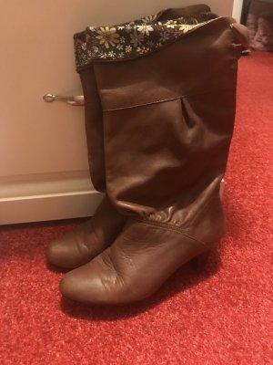 Akira Heel Boots brown-cognac-coloured