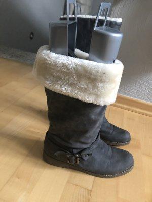 Laarzen met bont grijs