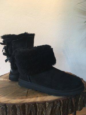 UGG Bottine d'hiver noir cuir