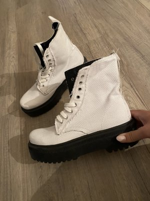 Stiefel boots plateau weiß blogger white