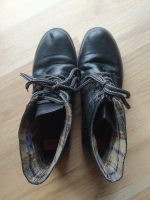 Rieker Bottes à lacets noir