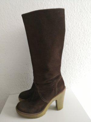 Stiefel Boots SPM Echt Leder Vintage Velours