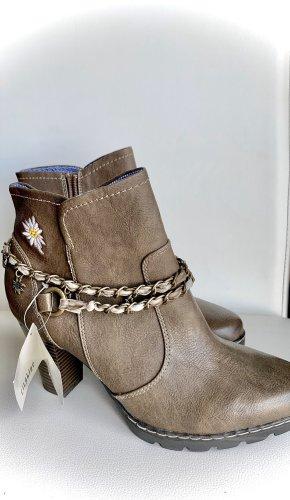 CityLine Zipper Booties brown