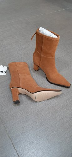 Zara Stivale con tacco marrone