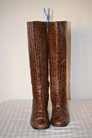 Cox Heel Boots brown leather