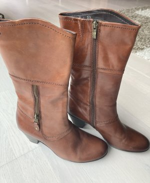 Caprice Jackboots cognac-coloured leather