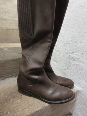 Bruno Premi Jackboots dark brown leather
