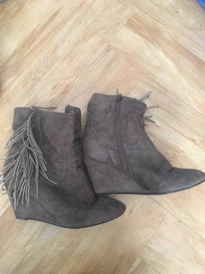 Botas de tobillo marrón claro