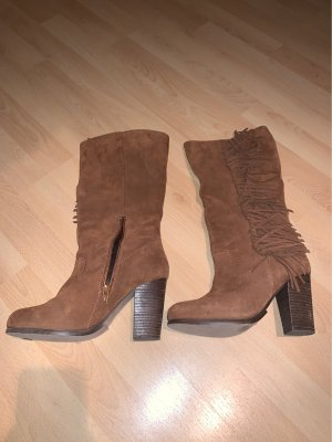 Western Boots cognac-coloured