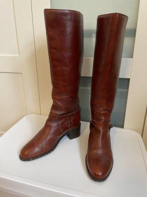 Stiefel Cognac-Braun Leder Gr.39