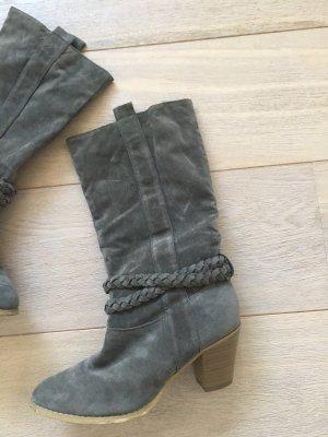 Boots western gris foncé