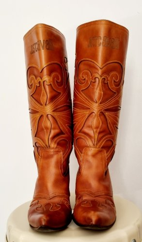 Just cavalli Boots western brun-cognac cuir