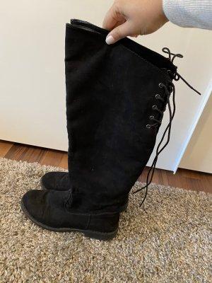 Stiefel Damen schwarz 38
