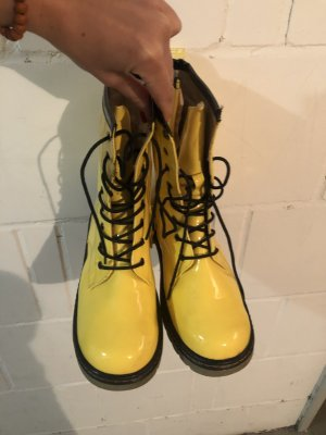 Aanrijg laarzen zwart-geel