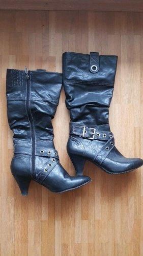 s.Oliver Heel Boots black mixture fibre
