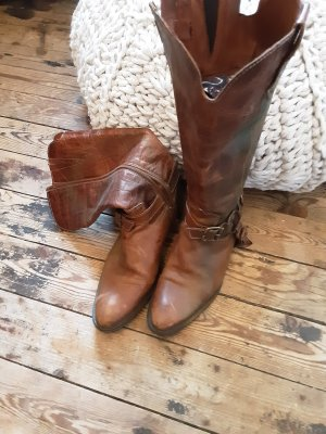 J&G Boots western cognac