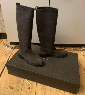 Stiefel Dolce&Cabbanna aus Veloursleder in anthrazit